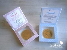 Bolos Para Bautizo Con Moneda Chocolate Originales Recuerdo - $ 30.00