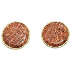 Preowned Unique Brown Python Wilma Spagli Italian Earrings 80s (8.570 RUB) ❤ liked on Polyvore featuring jewelry, earrings, brown, vintage metal jewelry, snake earrings, 80s jewelry, metal jewelry and metal earrings
