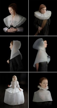 Suzanne Jongmans takes her cue from the Dutch Masters, making costumes for her photos from contemporary packing foam… …thanks WolfEyebrows…
