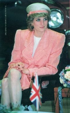 Princess Diana - this must have been in the 1980s.......those shoulder pads are a dead giveaway...........