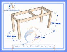 Plano de mesa de madera medidas   Web del Bricolaje Diseño Diy