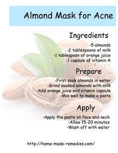Almond Mask for Acne