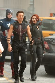 Jeremy in The Avengers (behind the scenes)
