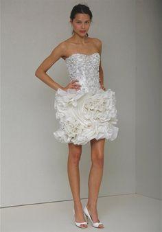 Latex wedding dress white short