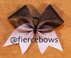 Black to White Ombre Glitter Cheer Bow by MyFierceBows on Etsy