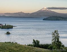 Osorno Volcano and Llanquihue lake at sunset, Chile