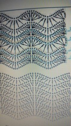 This Pin was discovered by Nid Puff Stitch Crochet, Crochet Ripple, Crochet Diagram, Crochet Motif, Crochet Shawl, Diy Crafts Crochet, Crochet Art, Finger Crochet, Crochet Curtains