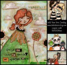 Duda Daze - silly little works of art: Seems like a good time for a sale  www.dudadaze.etsy.com coupon code RANDOM30