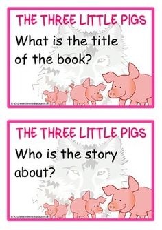 A set of 22 reading prompt A5 printable flashcards for the story of The Three Little Pigs. Each prompt is clear yet challenging for students to work hard for their answer. A great resource for students reading this story! Visit our TpT store for more information and for other classroom display resources by clicking on the provided links.