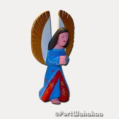 Recent Arrival Celestial Blue Angel See it here http://oaxacanwoodcarving.com/products/celestial-blue-angel?utm_campaign=social_autopilot&utm_source=pin&utm_medium=pin