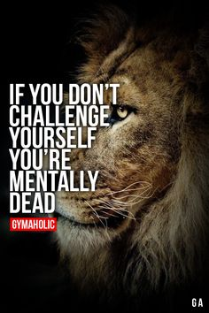 If You Don't Challenge Yourself (Fitness Motivation Quotes) Lion Quotes, Me Quotes, Motivational Quotes, Inspirational Quotes, Qoutes, Funny Quotes, Great Quotes, Quotes To Live By, Gym Quote