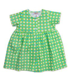Fair  Square Lime Baby Dress