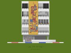 Galería - Arte y Arquitectura: ilustraciones coloridas de fachadas eclécticas del Tel Aviv - 2