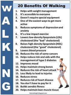 The benefits of walking. Do you love to walk?