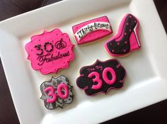 1 dozen age 30 and fabulous cookies In hot by NatSweetsCookies, $42.00