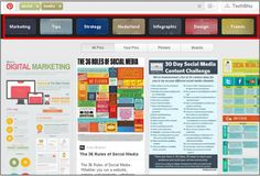 keyword search results on pinterest