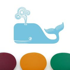Friendly Whale Wall Vinyl Decal $30