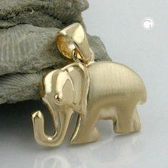 Anhänger Elefant matt-glänzend, 9Kt GOLD Dreambase, http://www.amazon.de/dp/B00I4VPPIY/ref=cm_sw_r_pi_dp_ixxhtb0T7PWY9