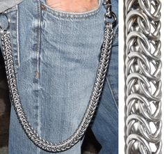 Stainless Steel Wallet Chain Box Weave Chainmail 24IN Heavy Duty