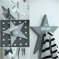 Patère étoile personnalisée Ma caisse à jouets http://www.macaisseajouets.com/p/blog-page_23.html