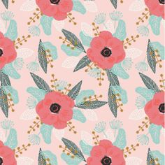 Spoonflower's Poppy Posy Posies designed by by Spoonflower on Etsy