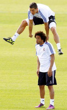 Cristiano Ronaldo and Marcelo soccer saving the earth wondersocertowel@gmail.com