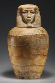 A Canopic Jar - Egypt, New Kingdom, 18th Dynasty, ca. 14th cent. B.C.