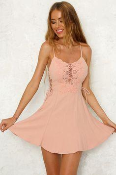 Carbon Copy Dress Blush