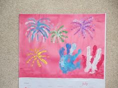 July - This is what my daughter and granddaughter made for a calendar Christmas gift.
