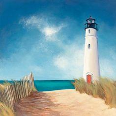 down the path- beach-lighthouse