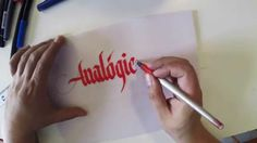 """Calligraphy """"Analógico"""" by Peyi"""
