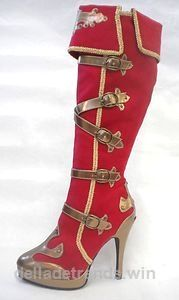 Red Gold Pirate Circus Gypsy Roman Warrior Soldier Costume Boots Womans 6 7 8 9 …  http://www.delladetrends.win/2017/08/01/red-gold-pirate-circus-gypsy-roman-warrior-soldier-costume-boots-womans-6-7-8-9/