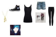 """""""style"""" by schooldiva7 on Polyvore featuring Juvia, Cutie Fashion, Current/Elliott, James Perse, Converse and Andrew Hamilton Crawford"""