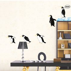 Items similar to Cute penguin diving Wall Decal - penguin Sticker - penguin wall decals - penguin decor Removable decorative wall stickers bedroom decals on Etsy Kids Room Wall Stickers, Wall Stickers Home Decor, Wall Stickers Murals, Wall Murals, Wall Art Decor, Wall Decal, Kids Murals, Art Vinyl, Kitchen Vinyl