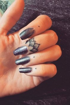 Love this mix of dot and lotus nail cuticle tattoos! 12 Tattoos, Ring Tattoos, Unique Tattoos, Body Art Tattoos, Small Tattoos, Tatoos, Ring Tattoo Designs, Cross Tattoos, Sleeve Tattoos