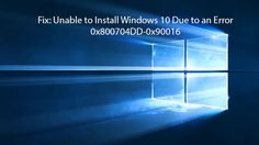 Microsoft provides free Windows 10 upgrade for all Windows 7 and Windows 8 systems. Engineers of Microsoft  tries to make the upgrading process easy and smooth but sometime upgrading to Windows 10 become very difficult due to an error 0x800704DD-0x90016.