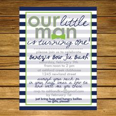 Little Man Bow Tie Birthday Party by LiliesoftheFields on Etsy