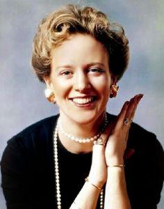 Princess Margarethe Alexandrine Thorhildur Ingrid Oldenburg,Queen Margarethe ll of Denmark.16 April 1940.House of Schleswig-Holstein-Sonderburg-Glucksburg.Daughter of Prince Christian Frederik Franz Michael Carl Valdemar George Oldenburg,Kind Frederik lX of Denmark (1899-1972)  Princess Ingrid Victoria Sofia Louise Margareta of Sweden (1910-2000).Queen of Denmark 14 January 1972-*.Married Henrik Marie Jean Andre de Laborde de Monpezat (1934-*).Issues:Frederick (1968-*).Joachim (1969-*).A♥W
