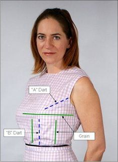 """How sewing patterns Donald McCunn- book update """"Th 2 things I do differently: I use gingham fr fitting & revised how I draft th woman's front bodice pattern"""" Sewing Basics, Sewing Hacks, Sewing Tutorials, Sewing Tips, Techniques Couture, Sewing Techniques, Dress Sewing Patterns, Clothing Patterns, Shirt Patterns"""
