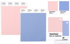 PANTONE Color Standards for Creating with Rose Quartz & Serenity