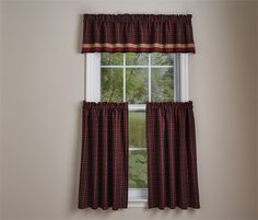 Dorset Lined Curtain Valance 72 x 14 shown with matching tiers