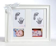 Twin Handprint Keepsake Picture Frame