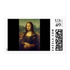 Mona Lisa postage stamps for sale ! - vintage gifts retro ideas cyo