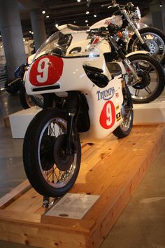 A 1971 Triumph on display with other classic motorcycles at the Barber Vintage Motorsports Museum in Leeds, Alabama. Speedway Motorcycles, Bike, Classic, Style, Motorbikes, Bicycle, Derby, Swag, Bicycles