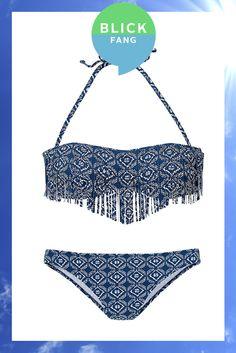 HEUTE IST DER TAG für Fransen … … mit dem raffinierten Bandeau-Bikini von Venice Beach.