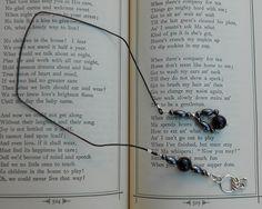 Hematite and Black Agate Beaded Bookmark. $9.00, via Etsy PrettyRockShop