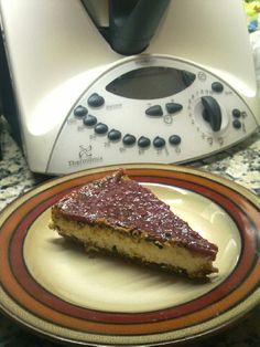 tarta de Queso mascarpone hecha con la Thermomix  Para ser la primera no ha quedado mal