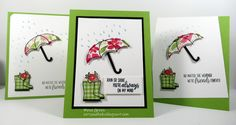 Mena Green - Stampin' Up! Demonstrator - creating and making stamping projects personally yours. Stampin' Up! cards and class projects. Umbrella Cards, Stamping Up Cards, Rubber Stamping, Birthday Cards For Women, Under My Umbrella, Baby Shower Cards, Stamp Making, Get Well Cards, Card Sketches