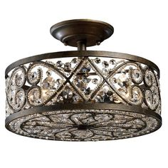 Sophisticated Sparkle Light Fixture.