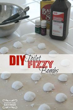 DIY Toilet Fizzy Bombs! These are great to have around the house and super easy to make!